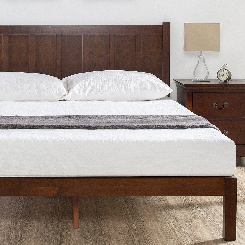 Amazoncom Zinus Wood Rustic Style Platform Bed With Headboard No