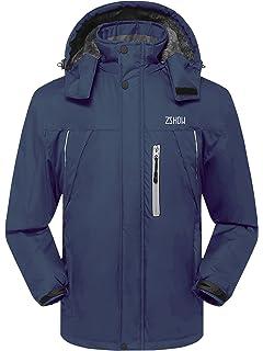 ZSHOW Men s Waterproof Ski Jacket Windproof Fleece Outdoor Insulated  Mountain Snow Rain Jacket b2c97a746