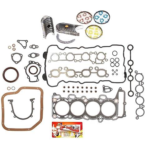 Fits 95-99 Nissan Sentra 200SX 1.6 Full Gasket Pistons Bearings Rings Set GA16DE