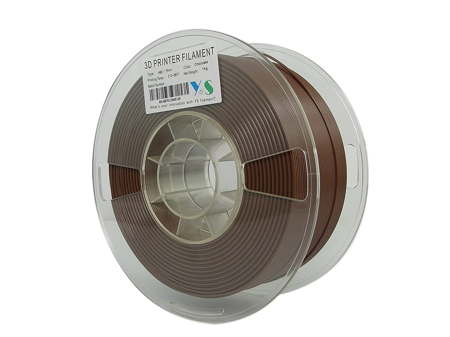 1.75 mm 1kg Limited Chocolate Guangzhou Yousu Plastic Technology Co YS YS-ABS-CO-1.75-1.0 ABS Filament Compatible with Makerbot//UP//Afinia//Robo 3D printer