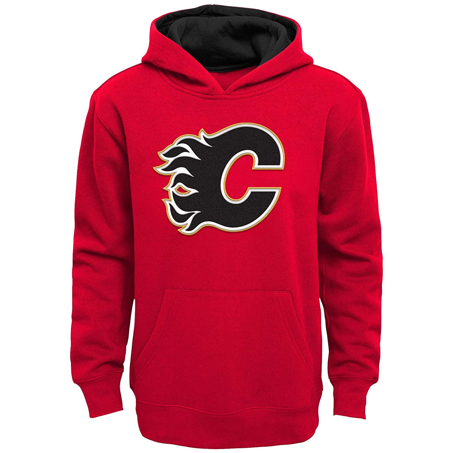 Calgary Flames Youth Prime Basic Pullover Fleece Hoodie Outerstuff