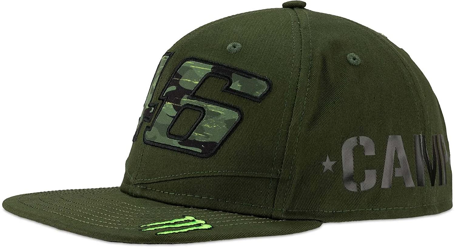 GORRA VR46 MONSTER DUAL CAMP MILITARY GREEN T-U: Amazon.es: Ropa y ...