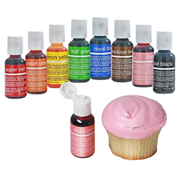 Amazon.com : Chefmaster Food Coloring Drops, 8 Vibrant Cake ...