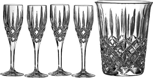 Royal Doulton Bar Set CIDESN26213 Seasons Champagne Bucket & 4 Flutes 160ml, Set of 5, Crystalline