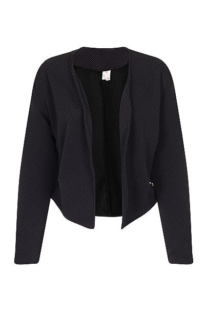 Para mujer negro traje de neopreno para mujer Miss Blazer sexis Smart con apertura frontal Blazer chaqueta de hípica para niños de pared para abrigos: ...