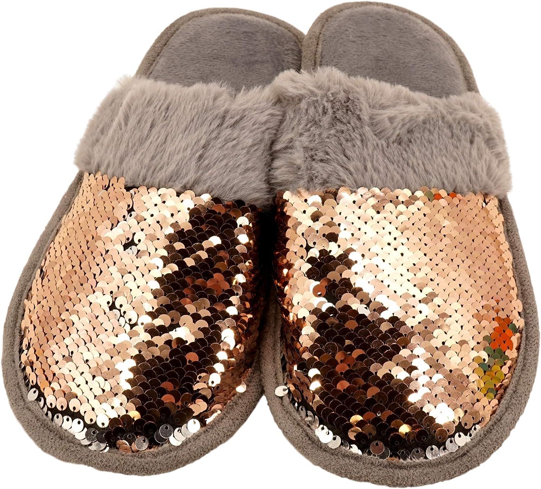 Smart Trend Reversible Sequin Slippers