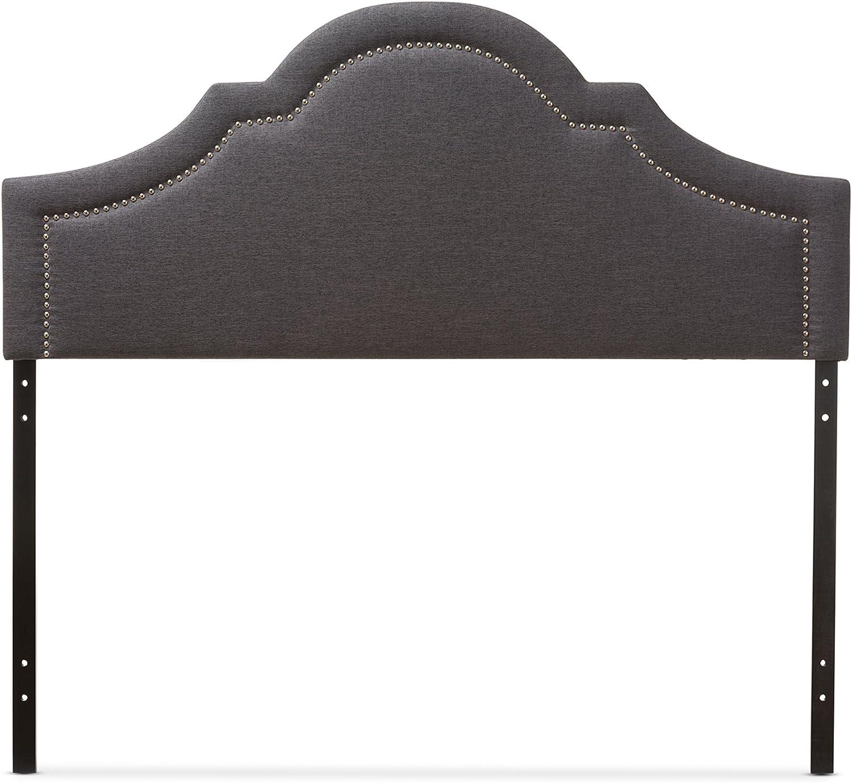 Full Baxton Studio Jardan Modern /& Contemporary Fabric Upholstered Headboard Dark Grey