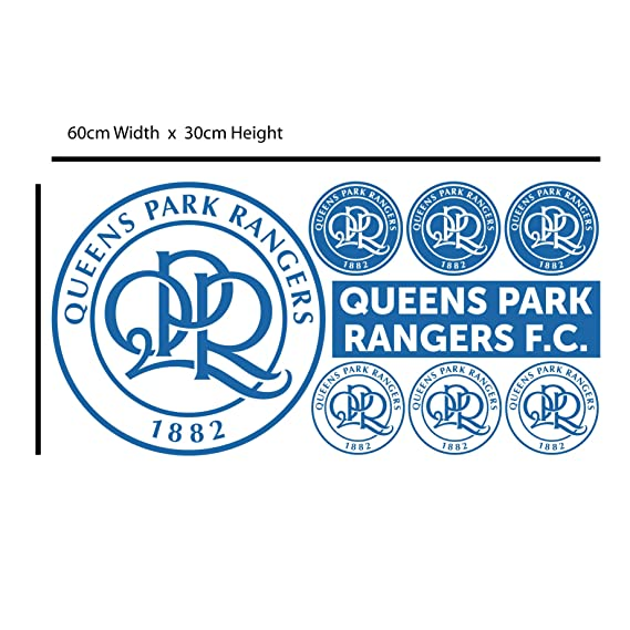 Queens Park Rangers Club Badge Wall Sticker Mural QPR Crest Set Art Print