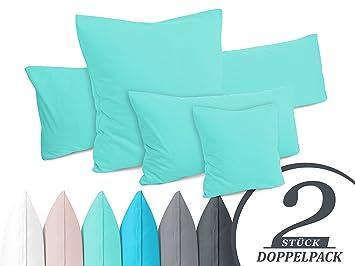 Moderne Kissenhüllen doppelpack kissenbezüge aus jersey baumwolle moderne