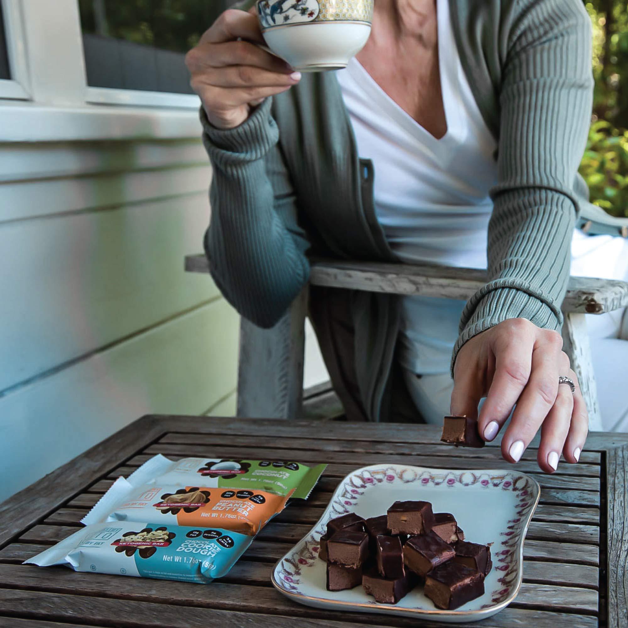 Kiss My Keto Snacks Keto Bars - Keto Chocolate Variety (3 Pack, 36 Bars), Nutritional Keto Food Bars, Paleo, Low Carb/Glycemic Keto Friendly Foods, All Natural On-The-Go Snacks, Low Net Carbs by Kiss My Keto