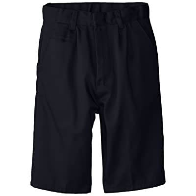 (6114) Genuine School Uniforms Boys Pleated Front Short (Sizes 4-16) in Navy Size: 8