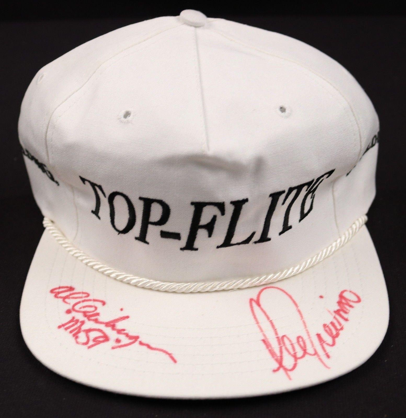 Lee Trevino/Al Geiberger Signed Spalding Top Flight Golf Hat COA JSA Certified Autographed Golf Hats and Visors