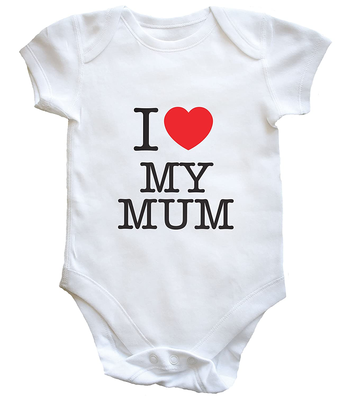 Hippowarehouse I Heart My Mum Baby Vest Boys Girls