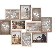 LOOITUY Collage Colori Misti 10 Foto di 10x15 cm, Dimensioni Esterne: 56x45x2,5 cm