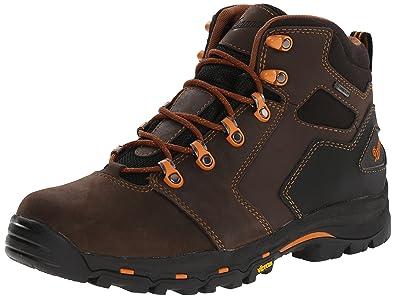 "Danner Men's Vicious 4.5"" Plain Toe Work Boot,Brown/Orange,8 EE"