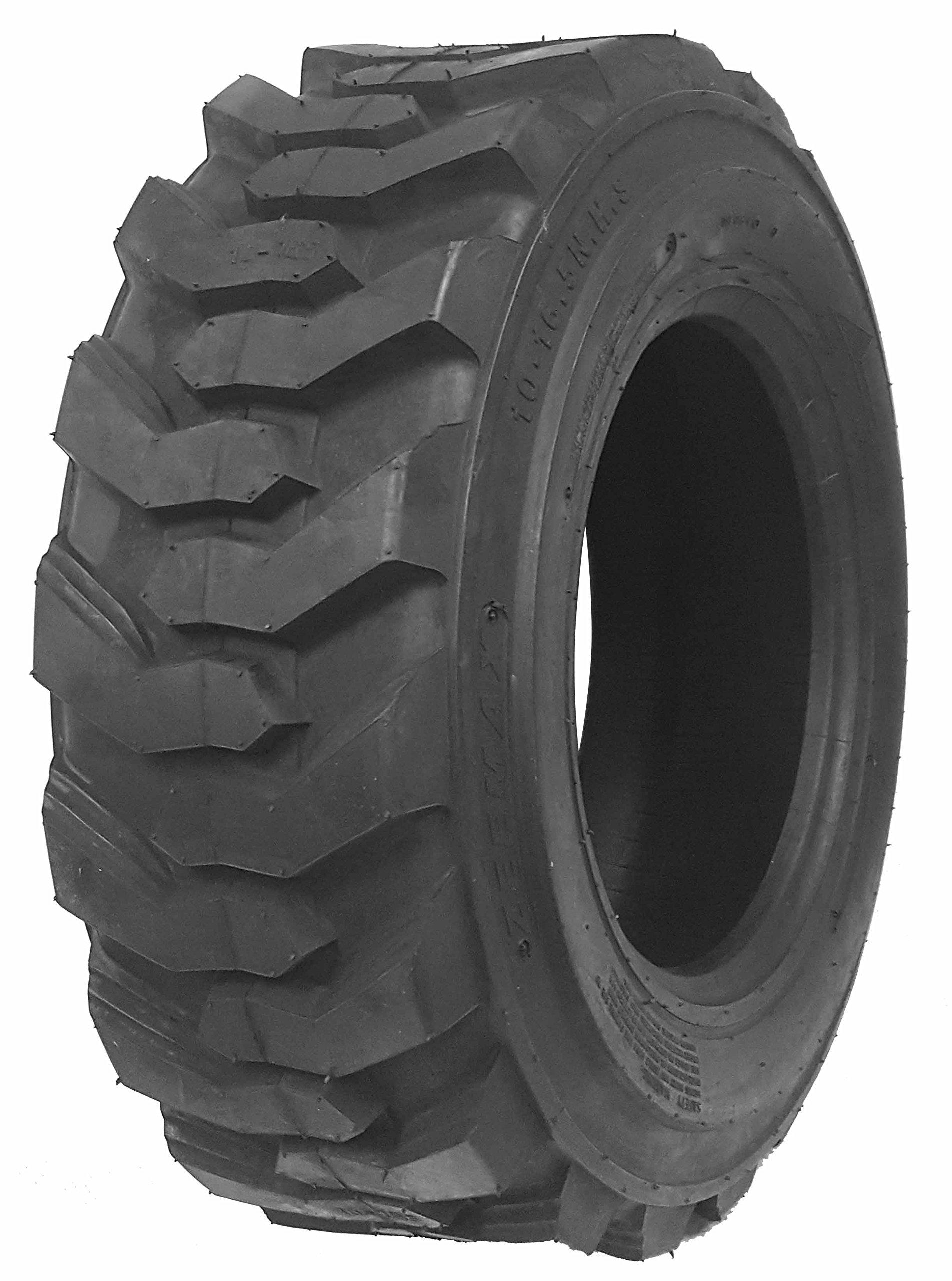 One New ZEEMAX Heavy Duty 10-16.5/10PR G2 Skid Steer Tire for Bobcat w/ Rim Guard