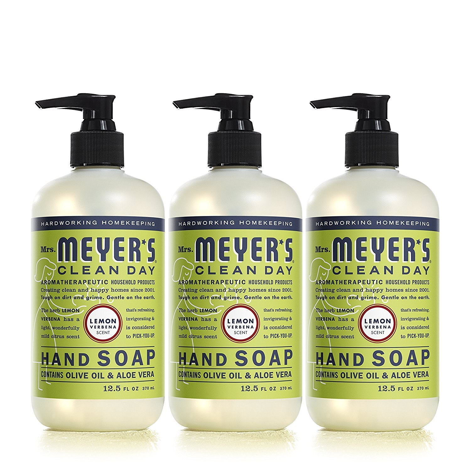 Mrs. Meyers Clean Day Hand Soap Lemon Verbena 12.5 fl oz, 3 Pack (Lemon Verbena) by Mrs. Meyer's Clean Day