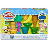 Play-Doh - Kitchen Creations - Ice Cream Party Playset - Inc 19 Acc and 6 Tubs of Dough - Creative Kids Toys - Ages 3+