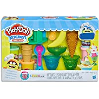 Play-Doh - Kitchen Creations - Ice Cream Party Playset - Inc 19 Acc and 6 Tubs of PlayDoh Dough - sensory and…