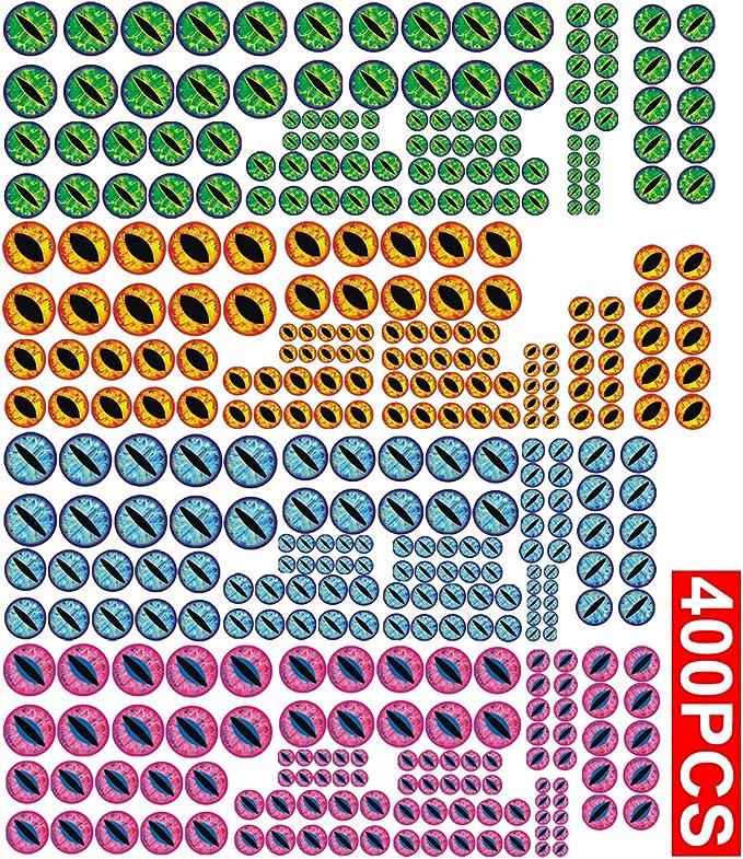 Vinyl Fishing Lure EYE sets Various Colours EOFYsale 7mm StraightEye LARGE Pupil