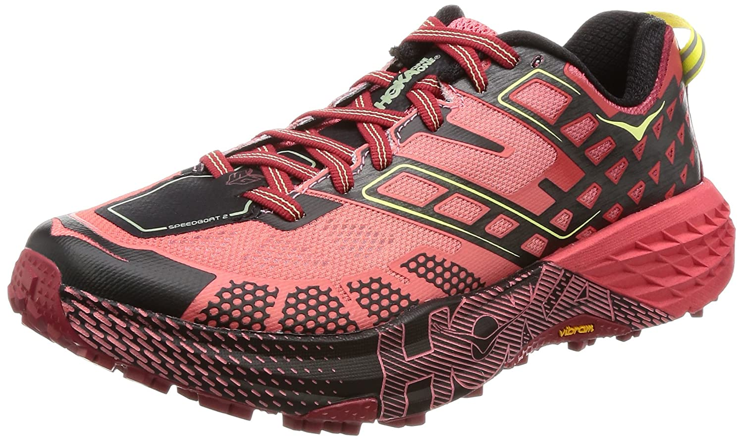 HOKA ONE ONE Women's Speedgoat 2 Trail Shoe B01N4G7RKX 6 B(M) US|Dubarry/Chili Pepper