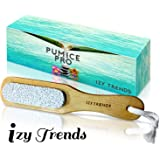 Pumice Stone - Better Grip With Handle And Less Mess - The Best Callus Remover Brush With 100% Pumice