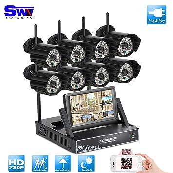 ANRAN 8 ch 720p inalámbrica Wifi NVR Kit sistema de seguridad Inicio vigilancia con monitor de