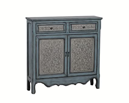 Powell 14A2048 Antique Console, Blue/White - Amazon.com: Powell 14A2048 Antique Console, Blue/White: Kitchen & Dining