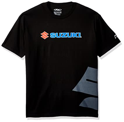 Factory Effex 15-88472 Suzuki Big S T-Shirt Black, Large