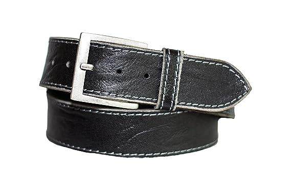 88d4063ac3fb Eg-Fashion Herren Gürtel 5 cm breiter Hand Made Jeans Gürtel aus 100%  Büffelleder - Gürtel mit Steppnaht am Rand  Amazon.de  Bekleidung