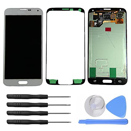 samsung galaxy s5 white box. novamass lcd display touch screen digitizer assembly for samsung galaxy s5 i9600 g900r g900f g900h g900m white box