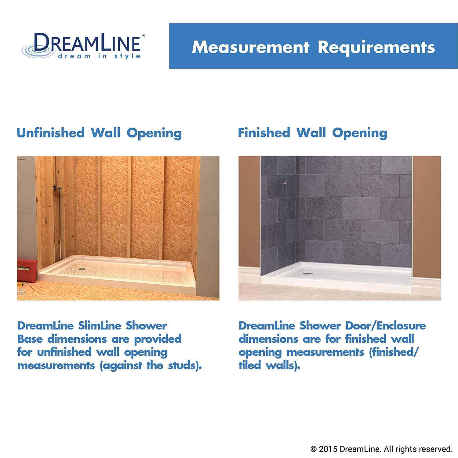 DreamLine SlimLine 33 In. X 33 In. Quarter Round Shower Base, DLT 7033330    Round Corner Shower Base   Amazon.com