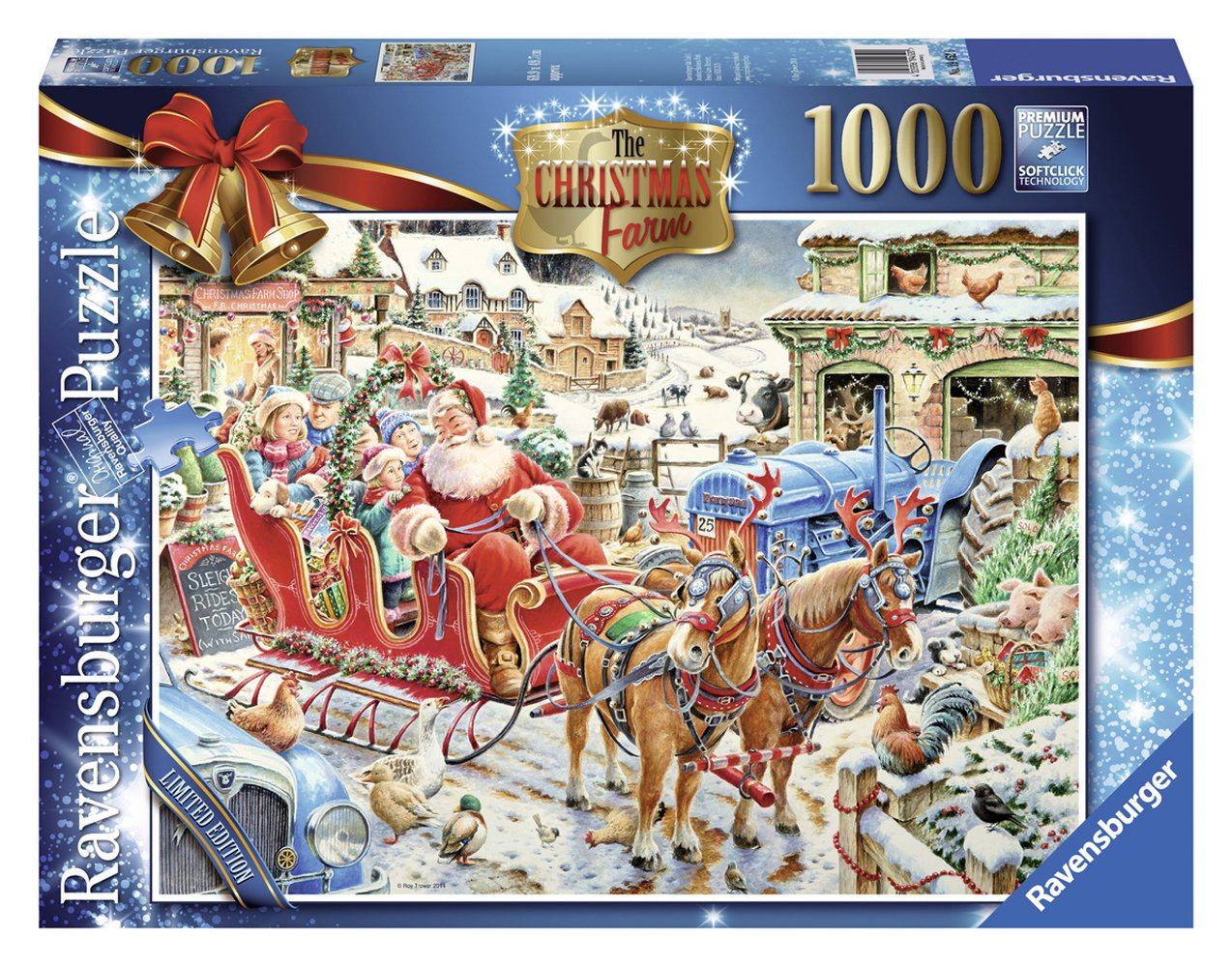 amazoncom ravensburger christmas 2014 limited edition puzzle the christmas farm 1000 toys games - Ravensburger Christmas Puzzles
