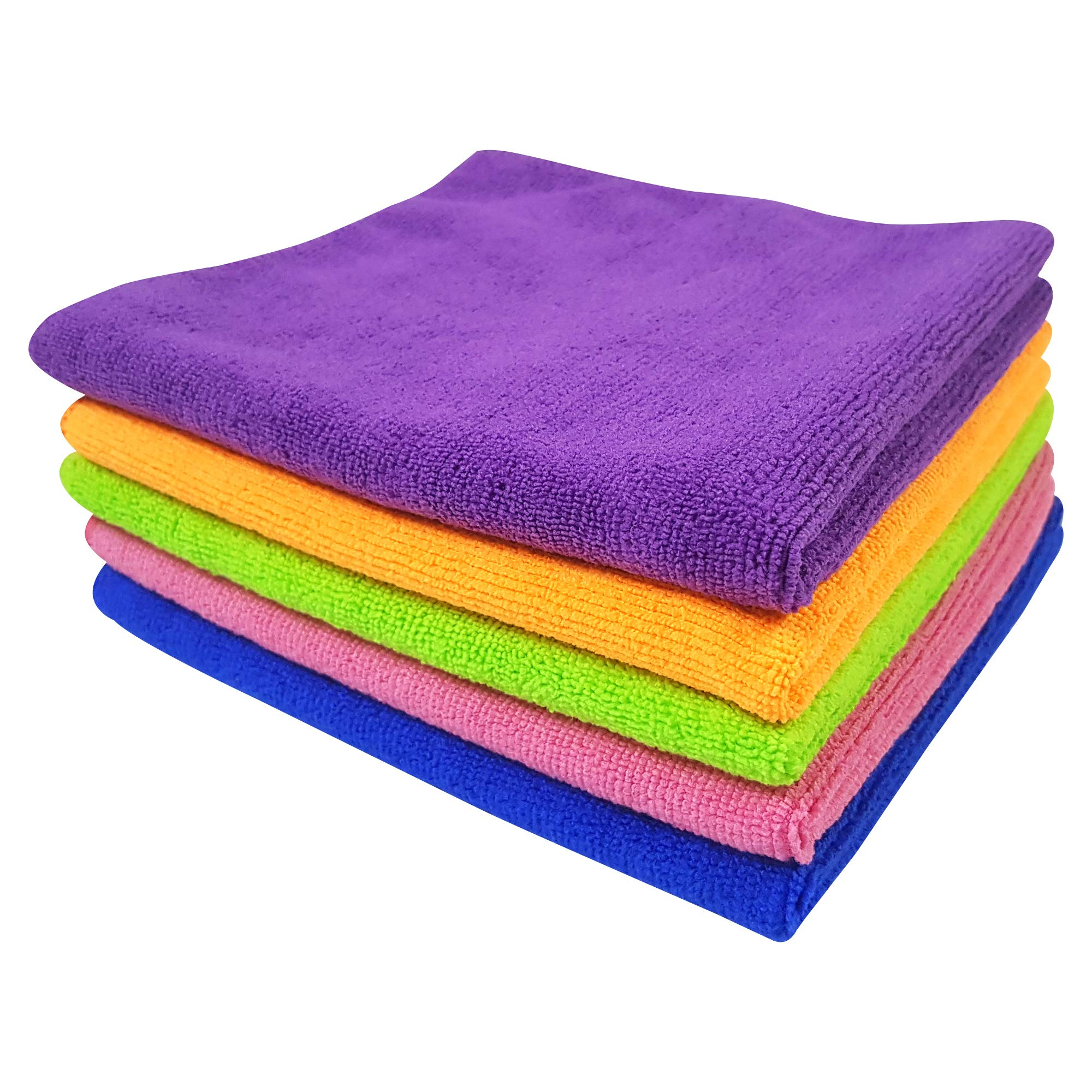 Softspun Microfiber Car Cleaning Cloth (Set of 5, Multicolour) product image