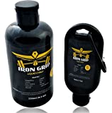 IRON GRIP Liquid Chalk (BEST VALUE Combo Kit) 8.3 oz. and 1.7 oz Travel size - Equal to (6) 50 ML BOTTLES - Ideal for all Grip Based Sports - LIFETIME WARRANTY
