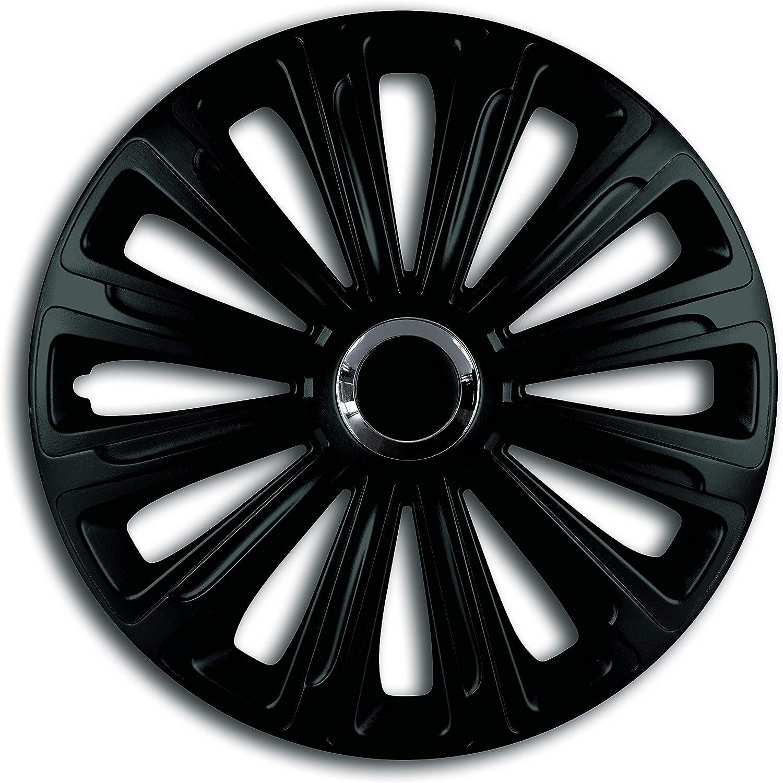 Shield Autocare /© Car Wheel Trims 15 Hub Caps Plastic Covers Set of 4 Trend RC Black Wheel Trims/_F418