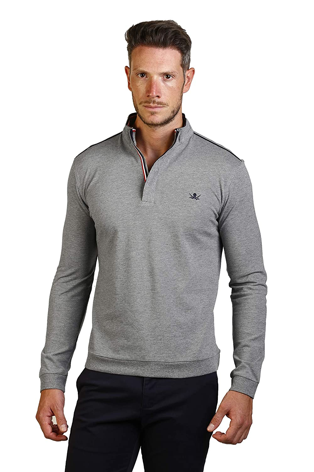 THE TIME OF BOCHA Polo Hombre JI1PHIERRO-Gris Talla M: Amazon.es ...