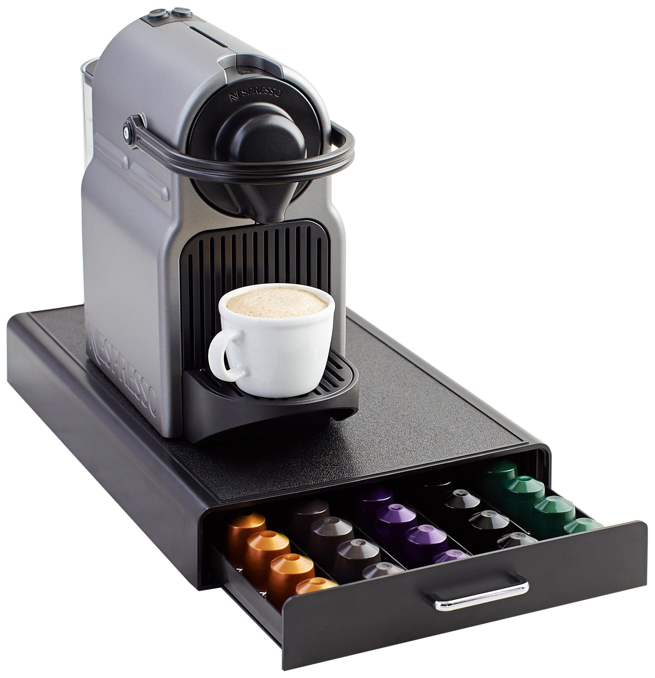 Amazon Basics Nespresso Coffee Pod Storage Drawer Holder, 50 Capsule Capacity
