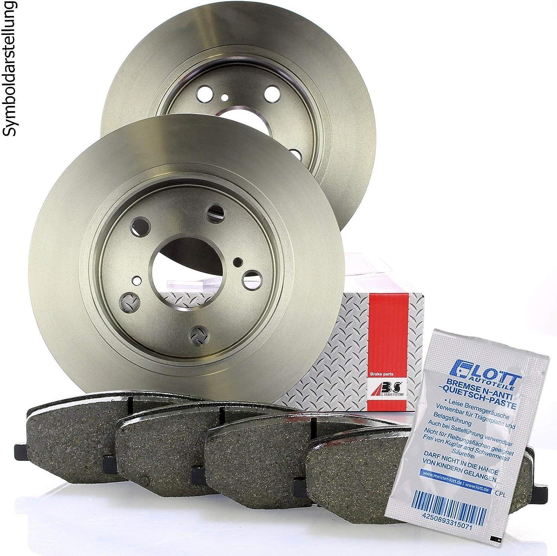 Bremsscheiben hinten /Ø262mm Bremsbel/äge Bremsbelagsatz Set hinten Hinterachse