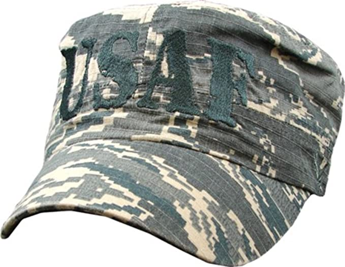 8f5a7d6d67e Image Unavailable. Image not available for. Color  MilitaryBest Air Force  USAF Flat Top Digital Camo Embroidered Ball Cap