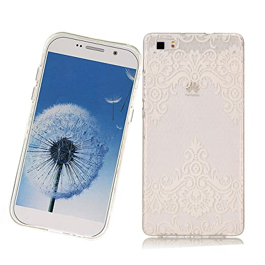 3 opinioni per Cover P8 Lite Huawei,Haikingmoon Anti-urto Anti-Graffio Trasparente Soft TPU