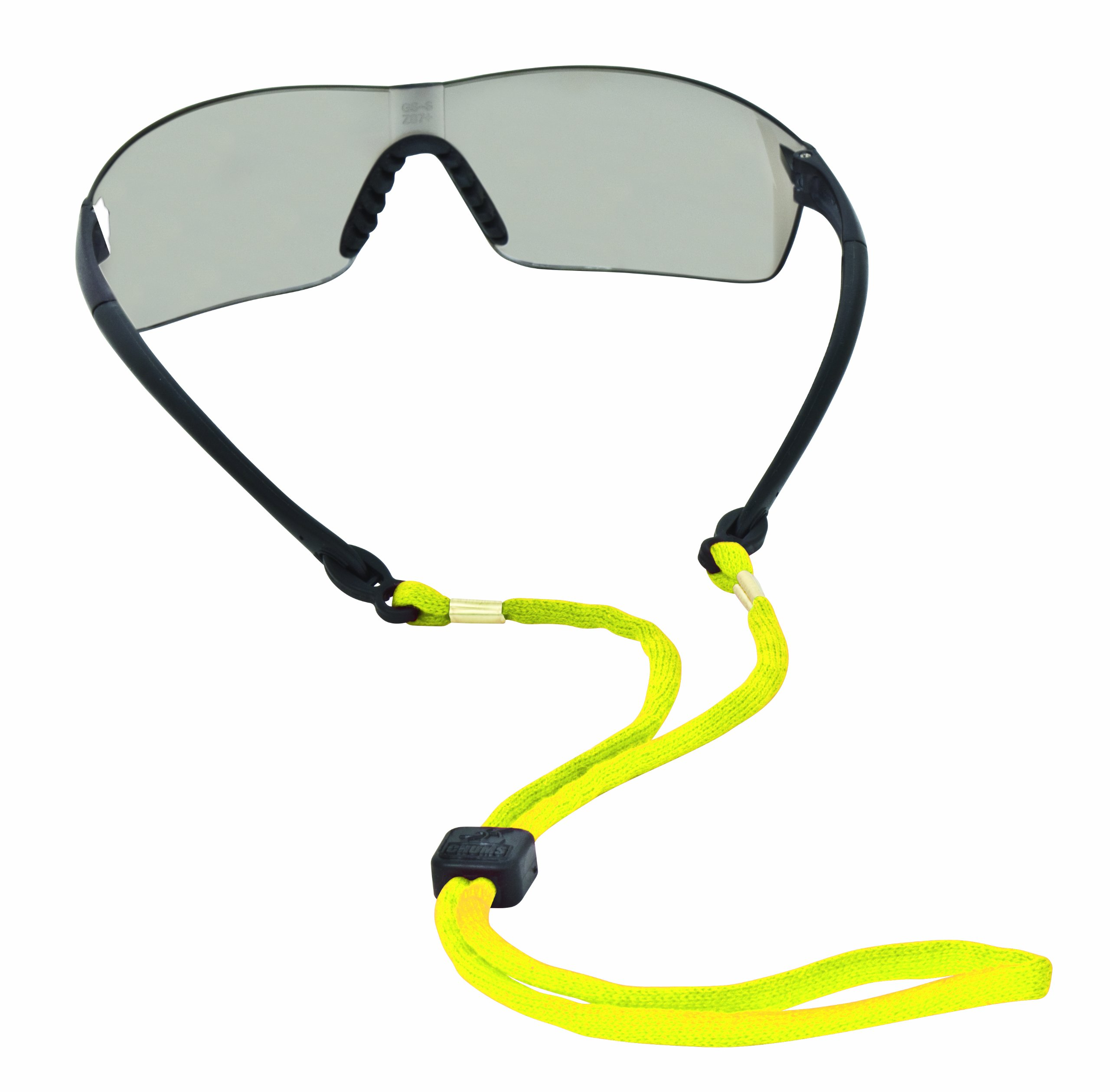 Chums Safety 12220 Cotton Eyewear Retainer with Center Punched Breakaway, Bright Yellow (Pack of 6)