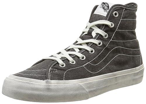ee876fd308 Vans Men s Sk8-Hi Decon Overwashed Black High-Top Skateboarding Shoe - 10M