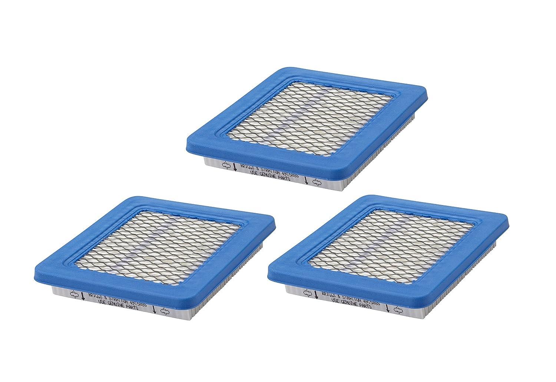 Briggs & Stratton Genuine OEM 491588S Flat Air Filter Cartridge (3 Pack)