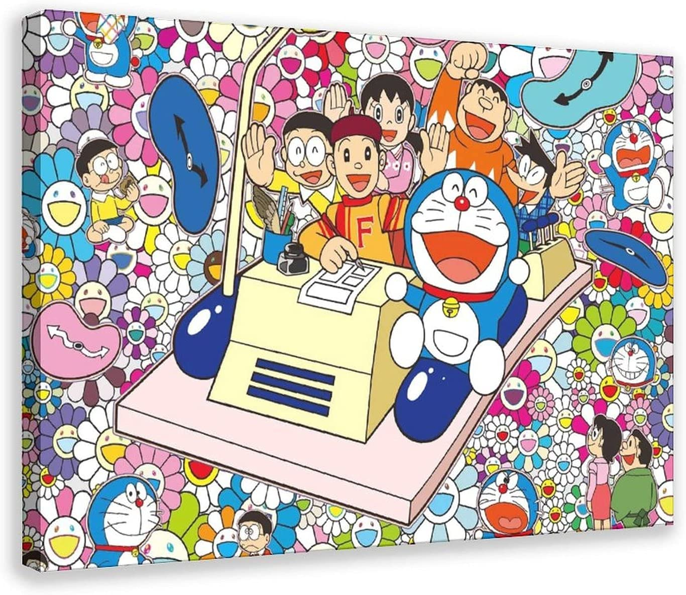 Doraemon Comedy Sci-Fi Anime 2 Canvas Poster Wall Art Decor Print Picture Paintings for Living Room Bedroom Decoration Frame-style116×24inch(40×60cm)