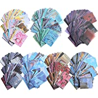 1000 Pieces Washi Sticker Set and Vintage Scrapbook Paper Journaling Supplies, Including 6 Set, 200 Pieces Washi…