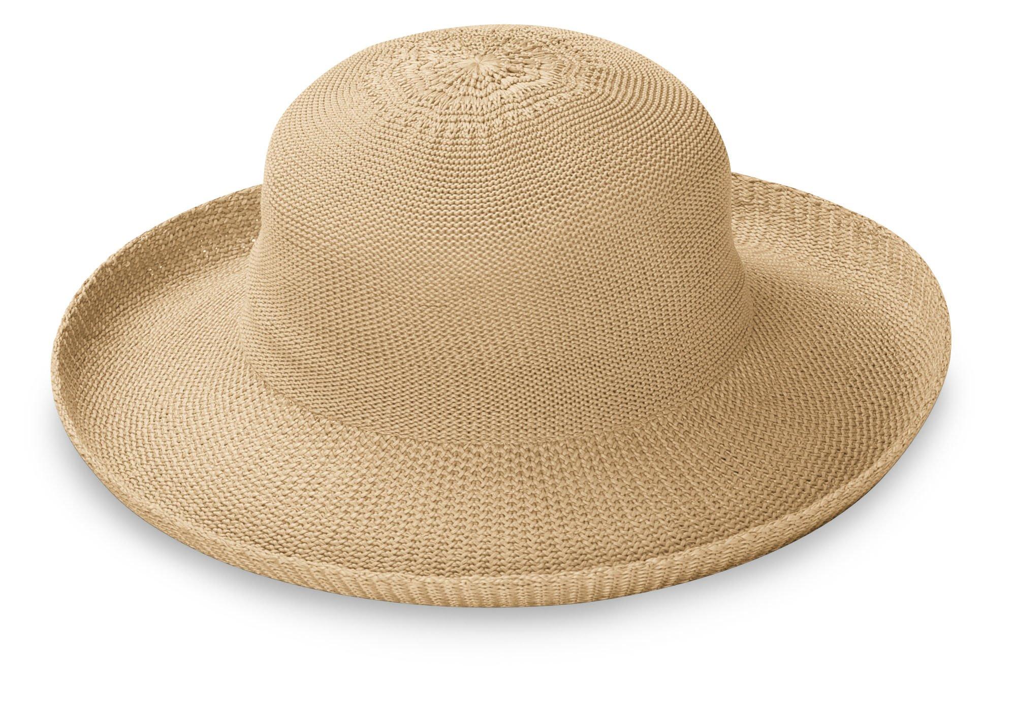 Wallaroo Hat Company Women's Petite Victoria Sun Hat - Tan - Packable, Modern Style, Petite Size, Designed in Australia. by Wallaroo Hat Company