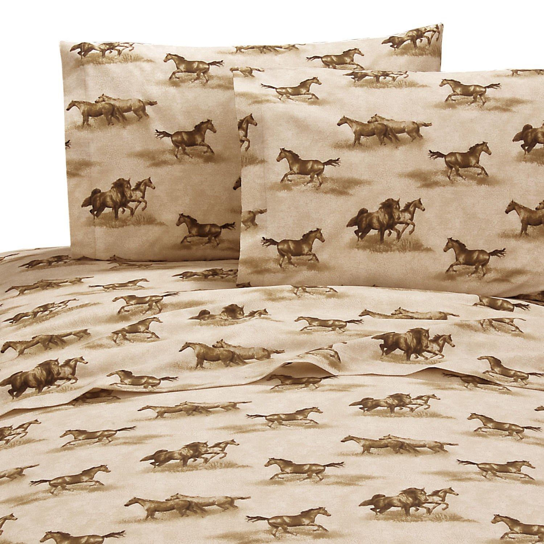 Wild Horses 8 Pc Full Comforter Set (Comforter, 1 Flat Sheet, 1 Fitted Sheet, 2 Pillow Cases, 2 Shams, 1 Bedskirt) SAVE BIG ON BUNDLING! by Kimlor