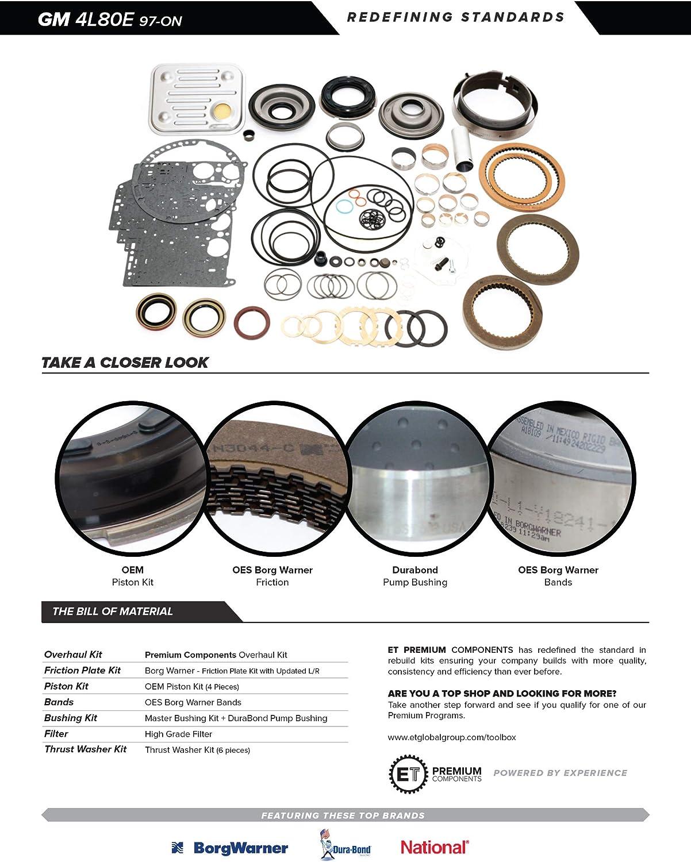 4l80e Transmission Rebuild Kit 97 04 Transmissions Parts Amazon Canada