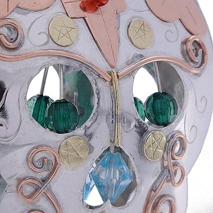 Azúcar calavera bronce níquel y cobre para colgar, diseño jardín maceta hecho a mano en caja de regalo: Amazon.es: Hogar